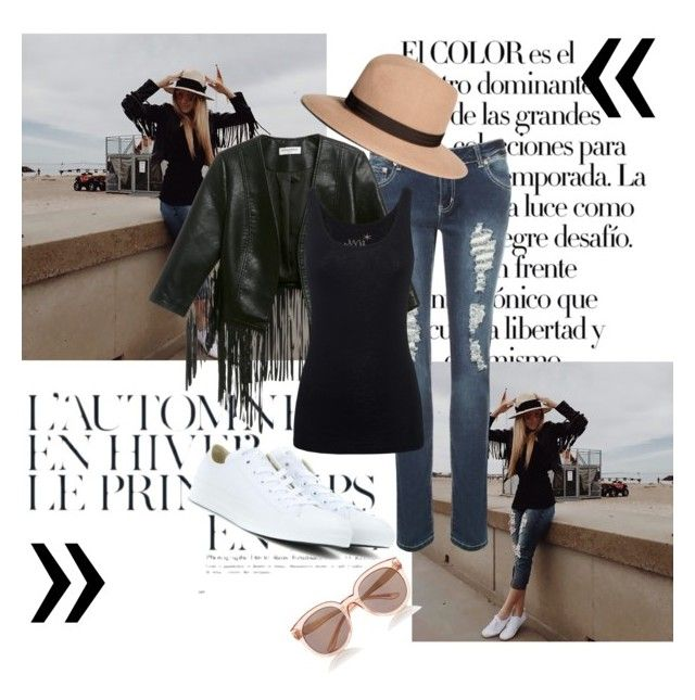"""""""Sem título #104"""" by sarahhs2 ❤ liked on Polyvore featuring moda, Été Swim, Arco, WearAll, Glamorous, Juvia, Converse, Brooks Brothers e Express"""