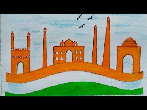 How to Draw Simple Republic Day Special Image For Kids ...