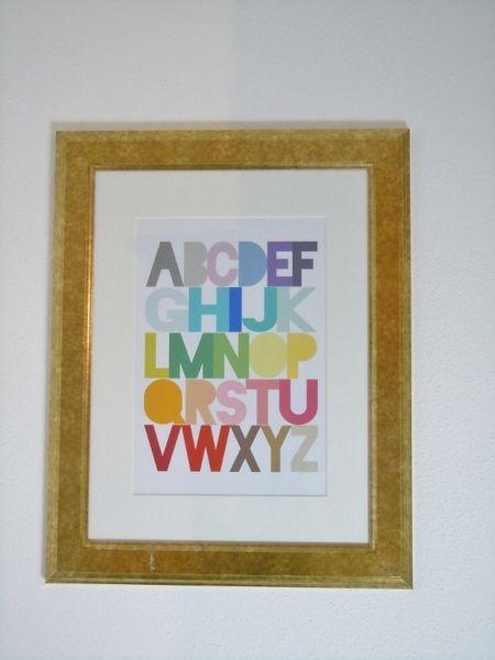 """Kunstdruck """"Buchstaben"""" von Love design auf DaWanda.com"""
