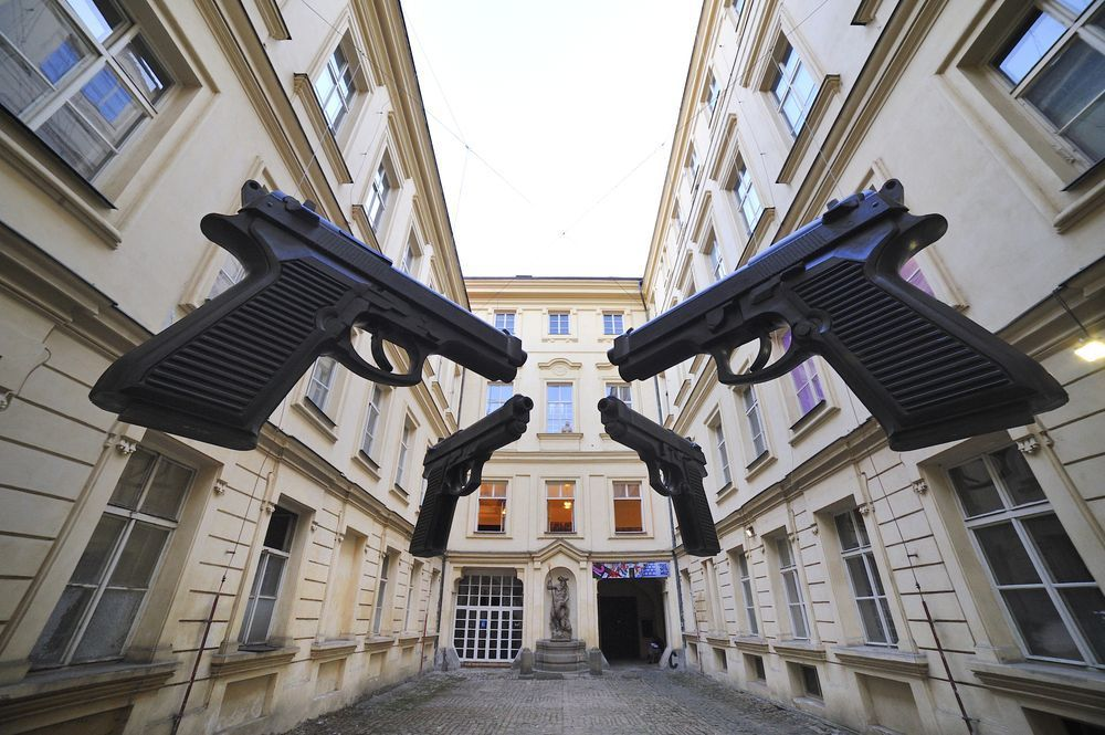 ART EXHIBITION IN PARGUE - - - Guns Photo by Francis Lambert — National Geographic Your Shot
