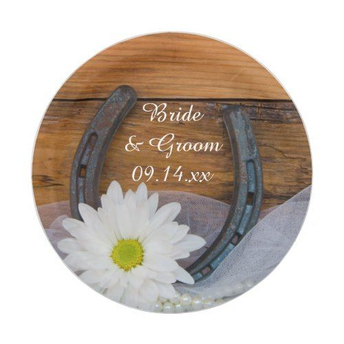 White Daisy and Horseshoe Country Western Wedding Paper Plate  sc 1 st  Pinterest & White Daisy and Horseshoe Country Western Wedding Paper Plate ...
