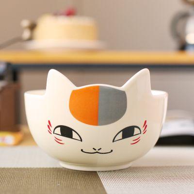Dinner Plates Cat Genius Ceramic Tableware Japanese Cartoon Creative Noodles Bowl Zakka Kid Porcelain Angel Natsum Ceramic Tableware Japanese Cartoon Ceramics