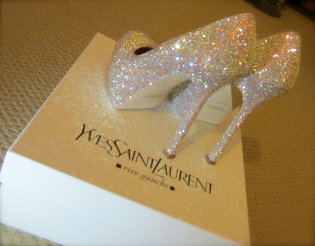 Exceptionnel There Are 12 Tips To Buy These Shoes: Ysl Platform Talon Yves Saint Laurent  White Luxe Luxury Glitter Sparkle Heels Sparkle Yves Saint Laurente High  Heels ...