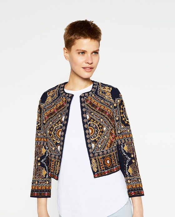 Embroidered Jacket by Zara