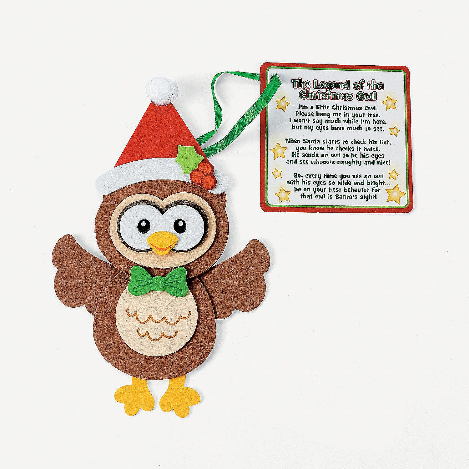 Christmas Owl Ornament With Poem Craft Kit ... - photo#41