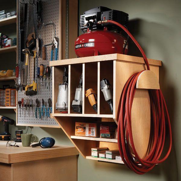 storing your compact compressor workshop storage on best garage organization and storage hacks ideas start for organizing your garage id=62201