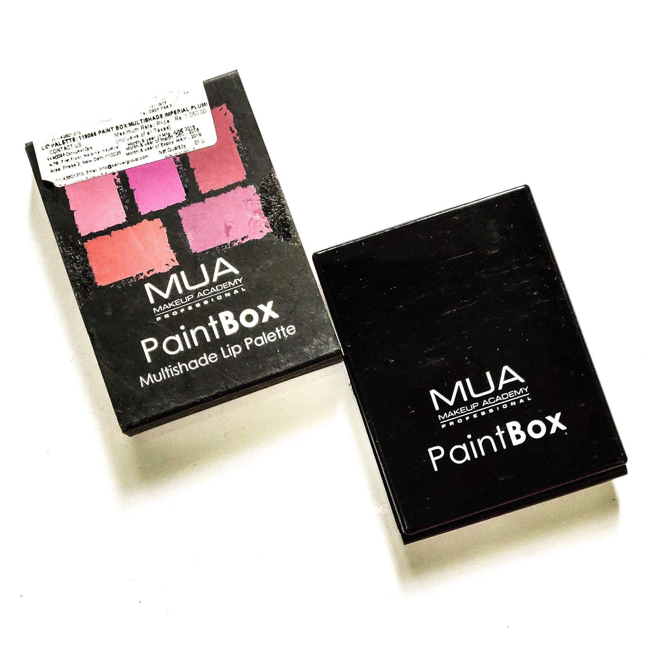 MUA Makeup Academy Paintbox Multishade Lip palette in the