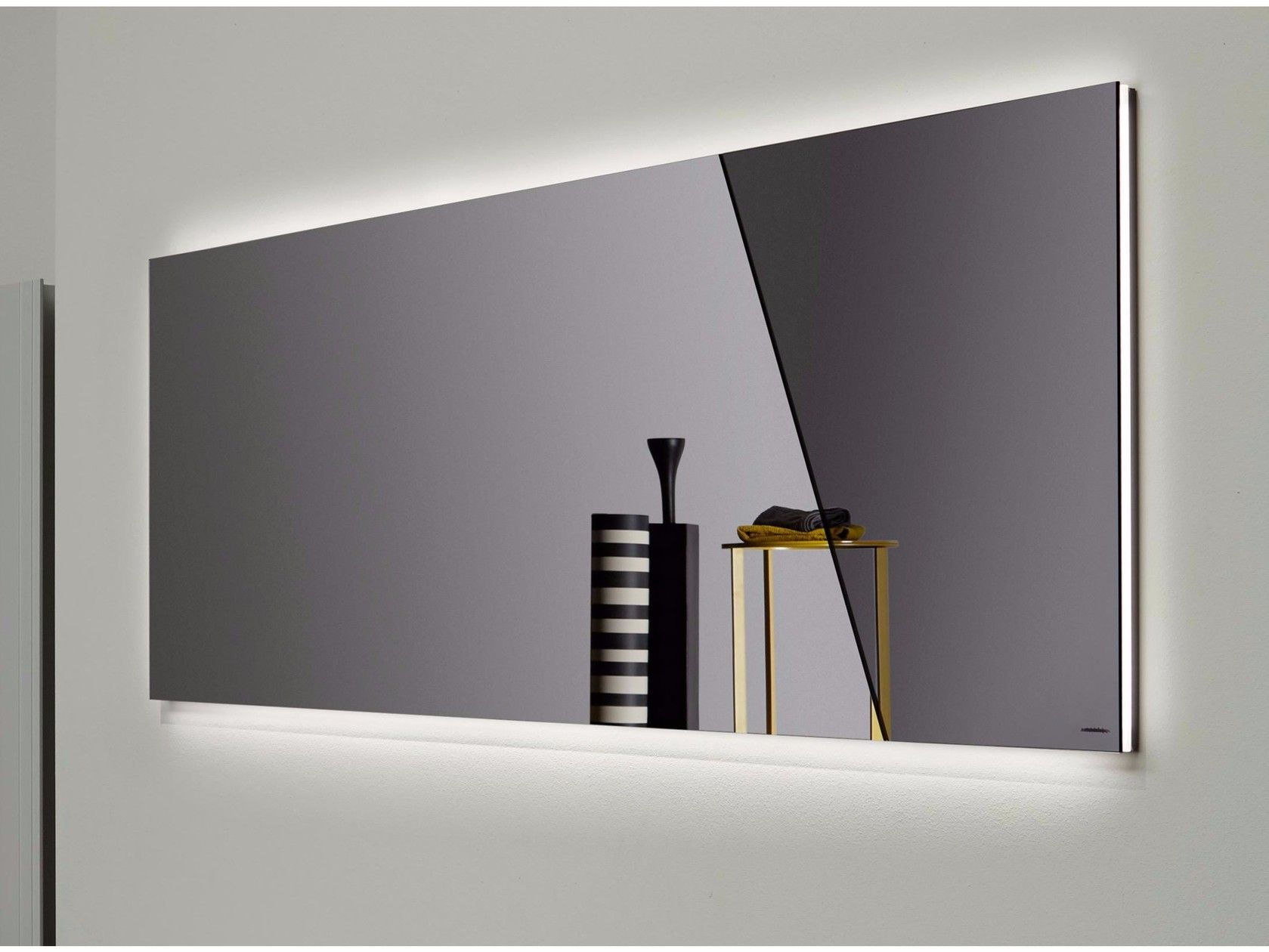 mirror with integrated lighting. Wall-mounted Bathroom Mirror With Integrated Lighting APICE By Antonio Lupi Design O