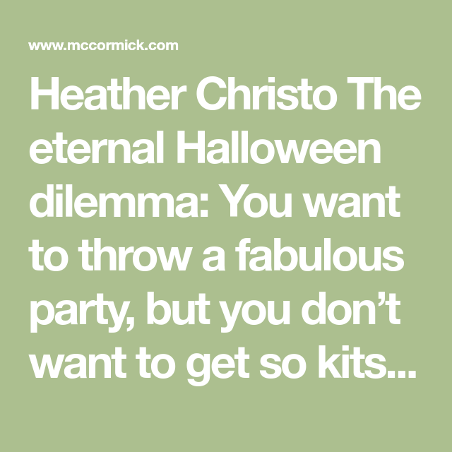 Halloween 2020 Christo 12 Classy Halloween Treats (and Drinks) for Grown Ups in 2020