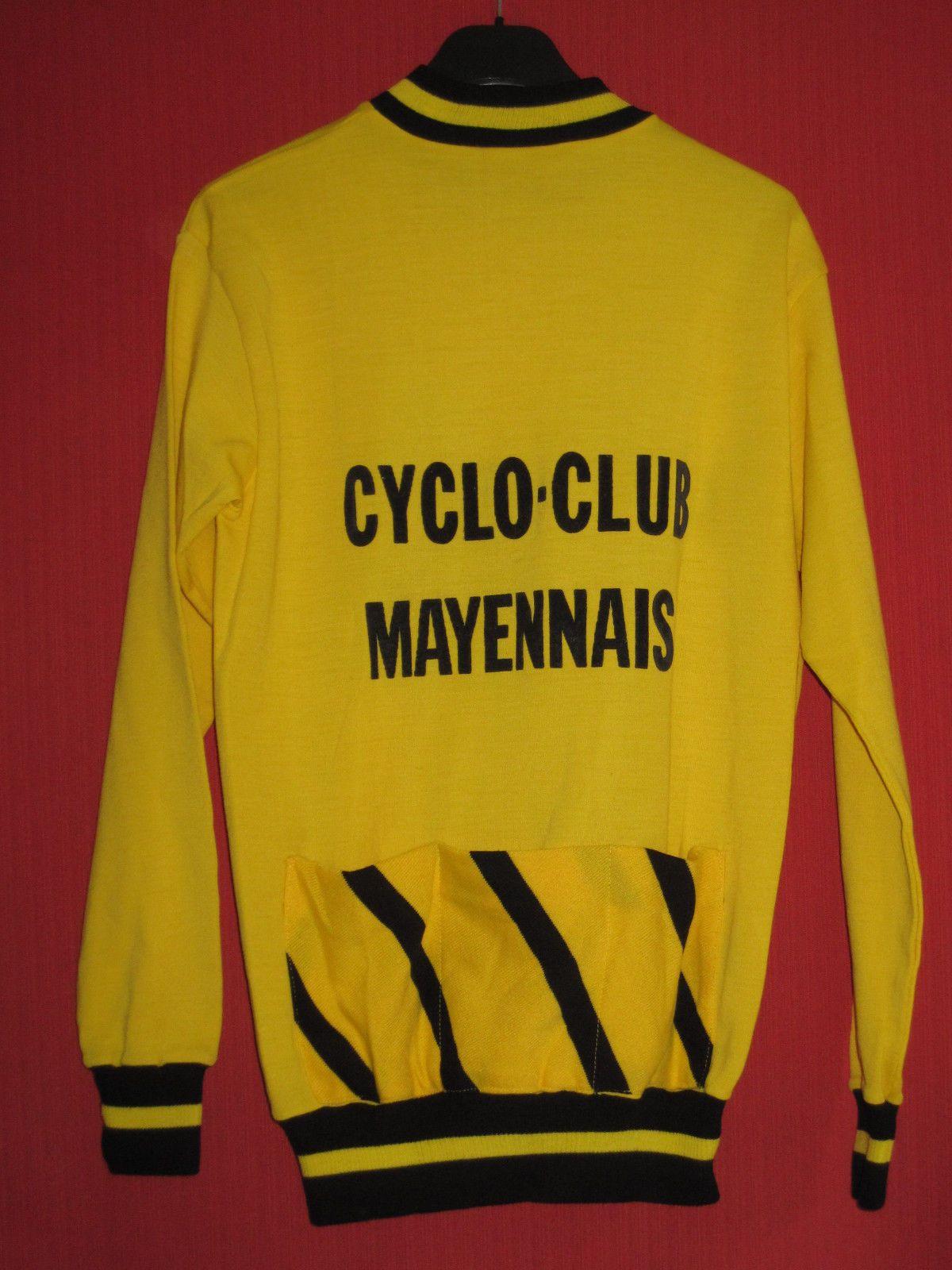 20622c651 T Shirts · Maillot cycliste Cyclo Club Mayennais Bennes Marrel Garnier  Vintage - 5