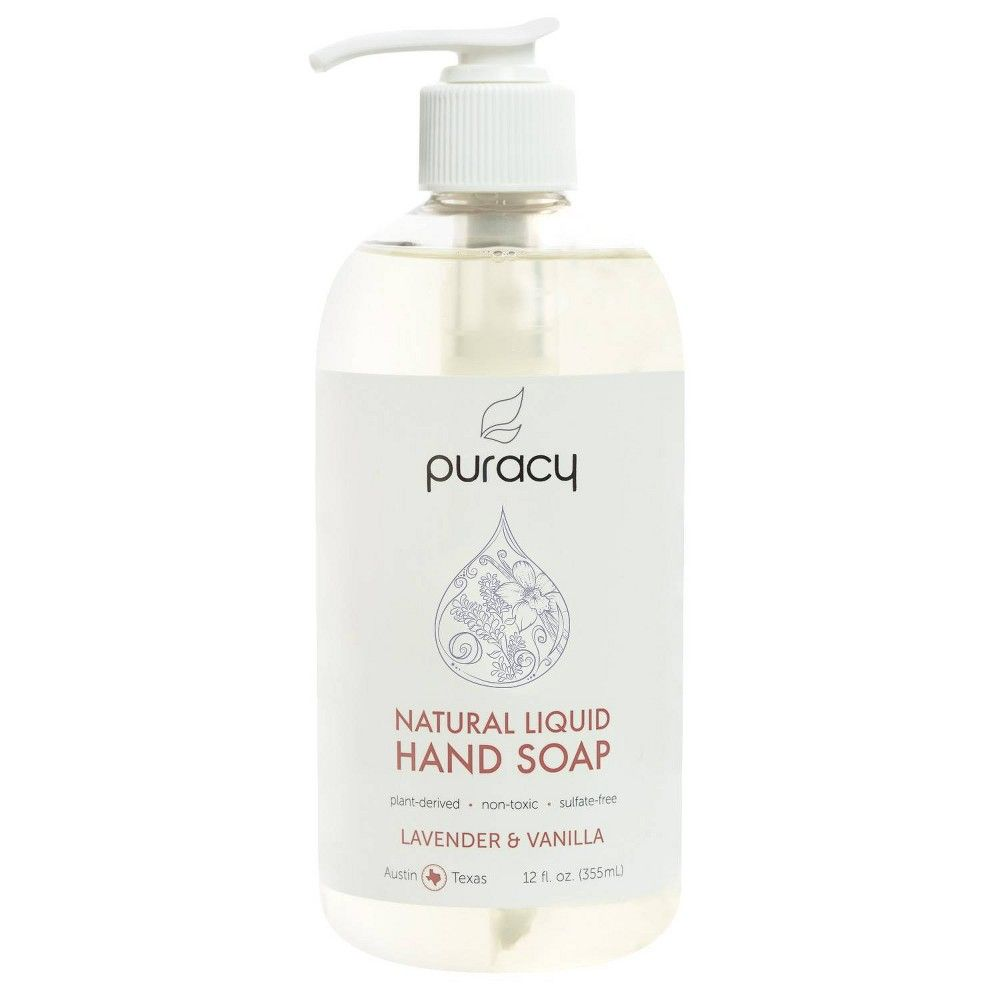 Puracy Lavender Vanilla Natural Liquid Hand Soap 12 Fl Oz