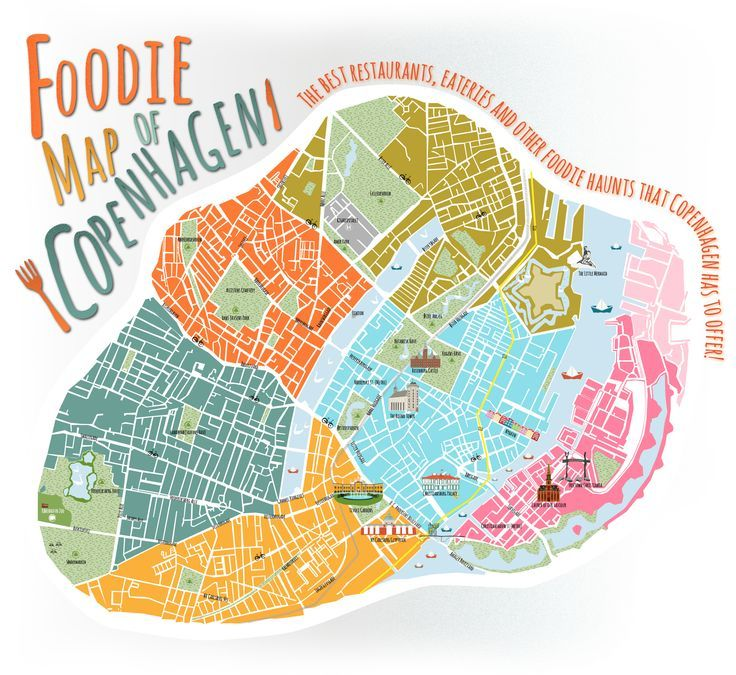 A Foodie Map of Copenhagen Expedia DK Copenhagen Pinterest