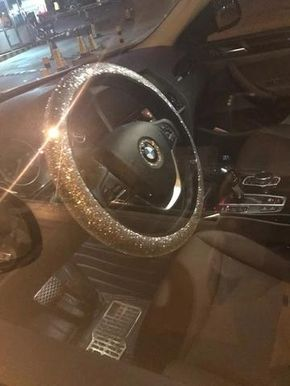 Bmw Bedazzled Steering Wheel Cover