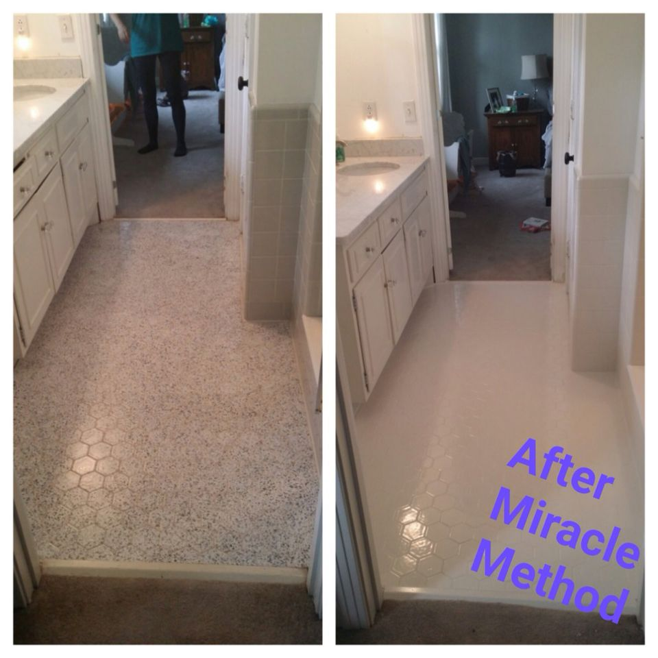 Miracle Method can refinish your floor tiles in just 2 days! Call us ...