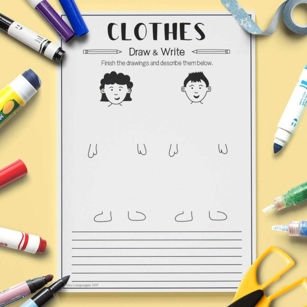 Clothes Draw Amp Write