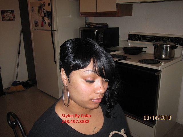 Awe Inspiring Spiked 27 Piece Quickweave Hair Pinterest Short Hairstyles Gunalazisus