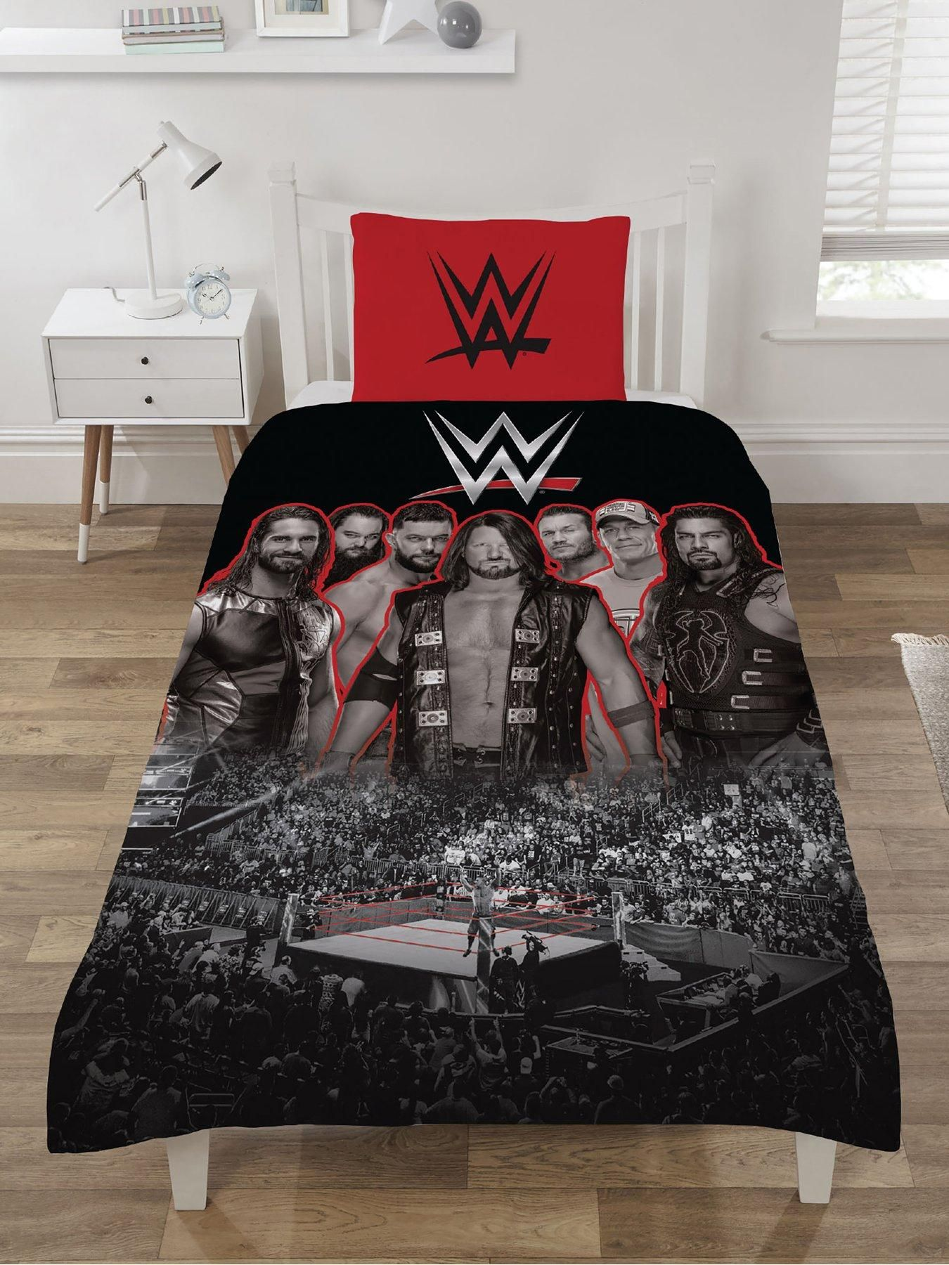Wrestling Bettwäsche Bettwäschegarnituren New Wwe Wrestling Smackdown Vs Raw Reversible Bedding Set Single Double Duvet Möbel & Wohnen