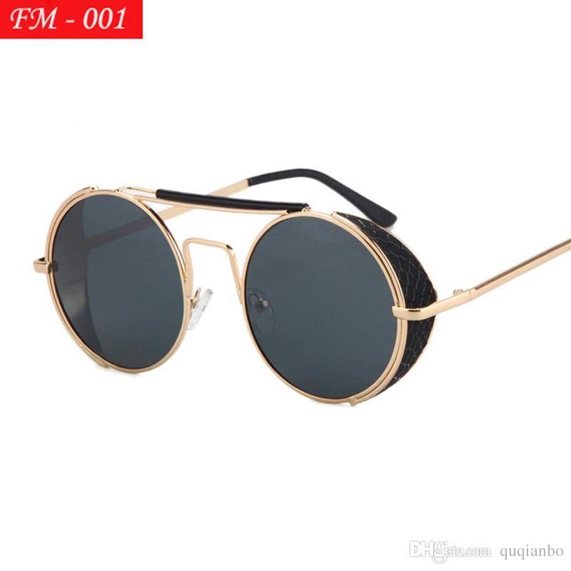 de0ed93ef54 Vintage Steampunk Sunglasses Men Round Designer Steam Punk Metal Women  Coating Sunglasses Retro Circle Sun Glasses Serengeti Sunglasses Ray Bans  Sunglasses ...