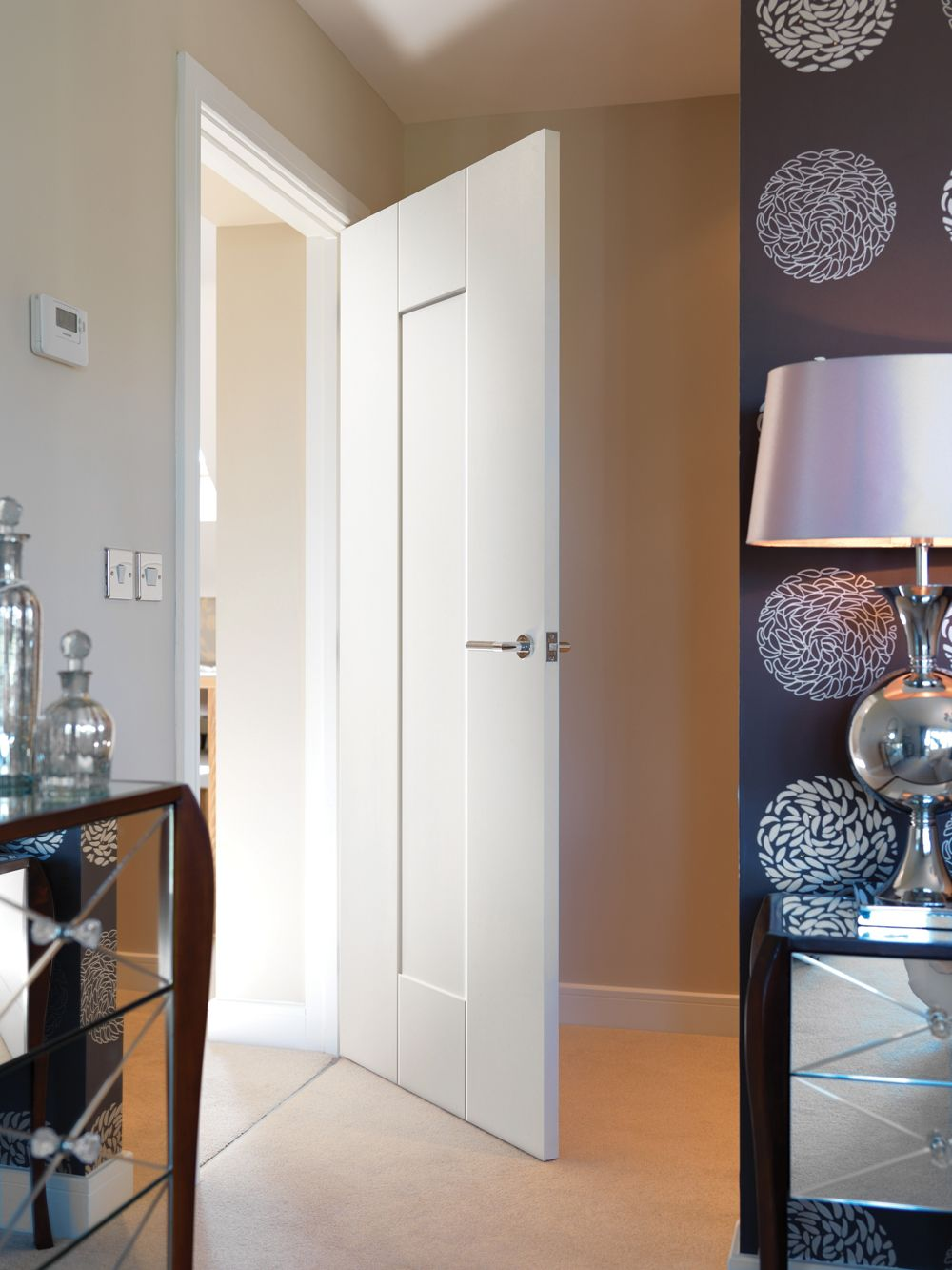 White contemporary shaker panel style interior door. JB Kind\'s ...