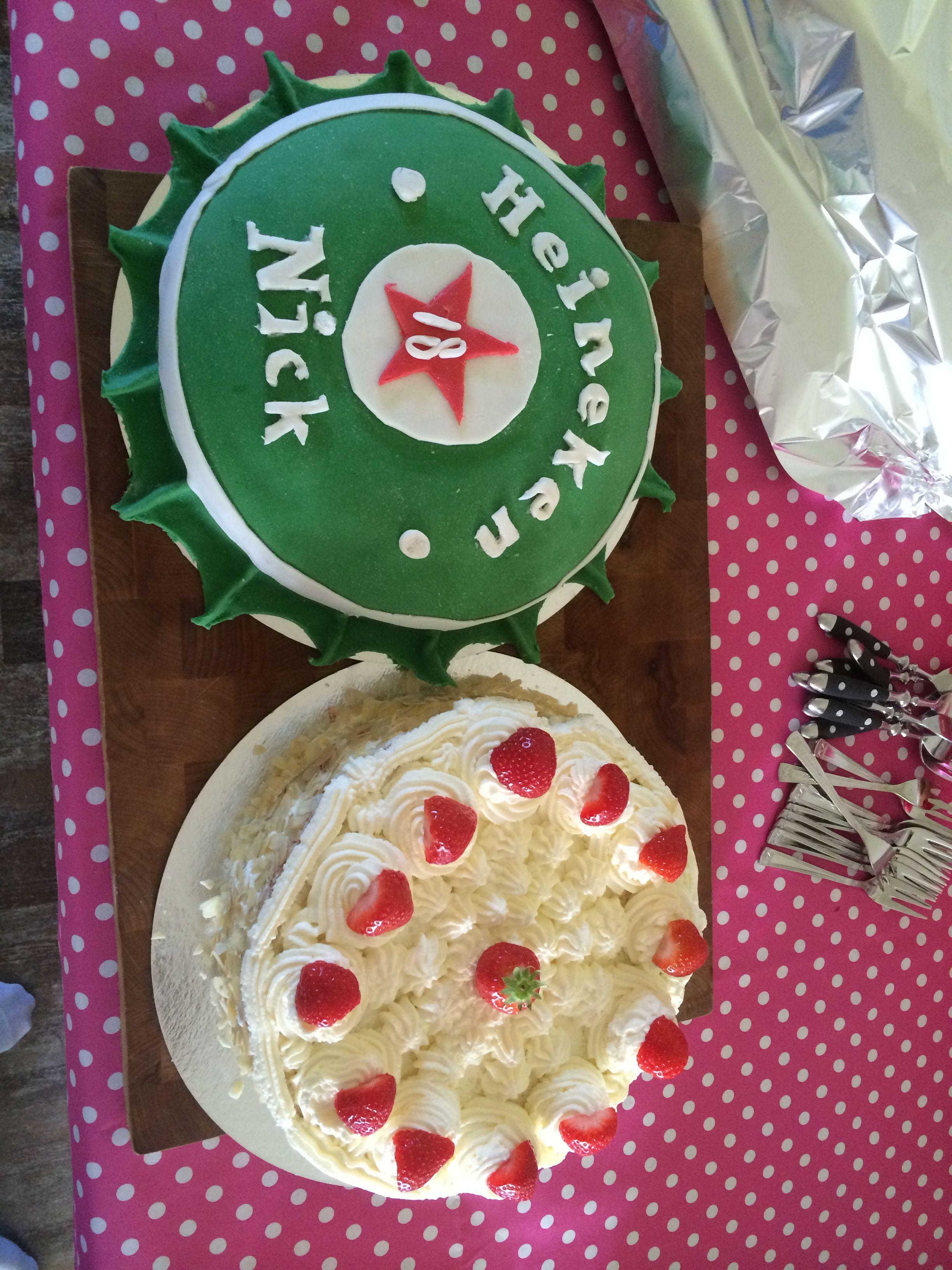 Heineken -en slagroom taart - 18 jaar