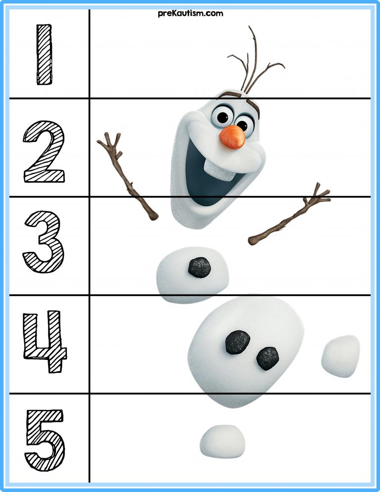Free Frozen 1 5 Puzzles Free Printable Puzzles Disney Activities Preschool Puzzles