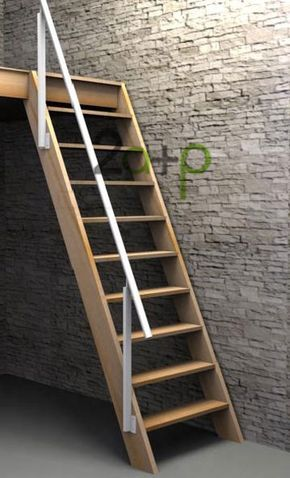 Escaleras para ahorrar espacio escaleras pinterest for Escaleras altas plegables