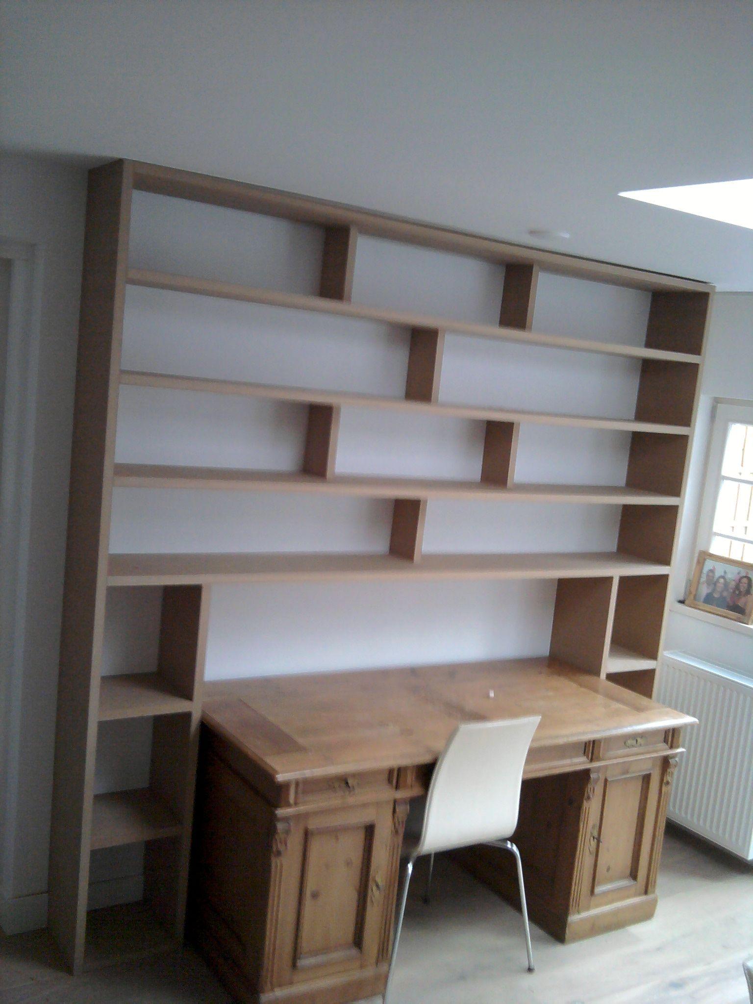 boekenkast ombouw voor bureau van mdf sassenheim