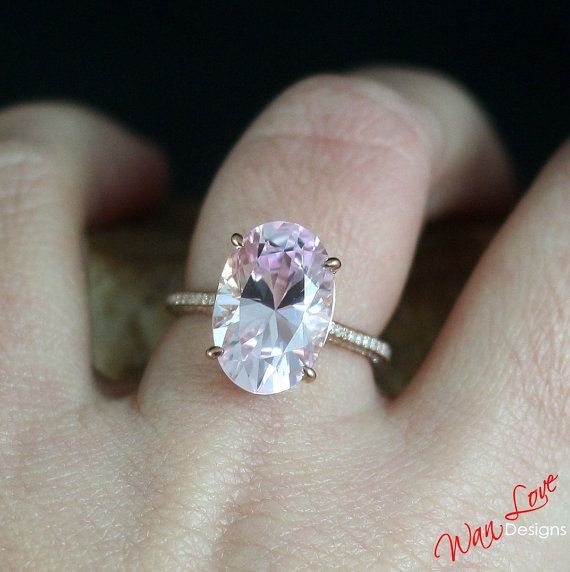 Custom Celebrity Light Pink Sapphire Engagement By