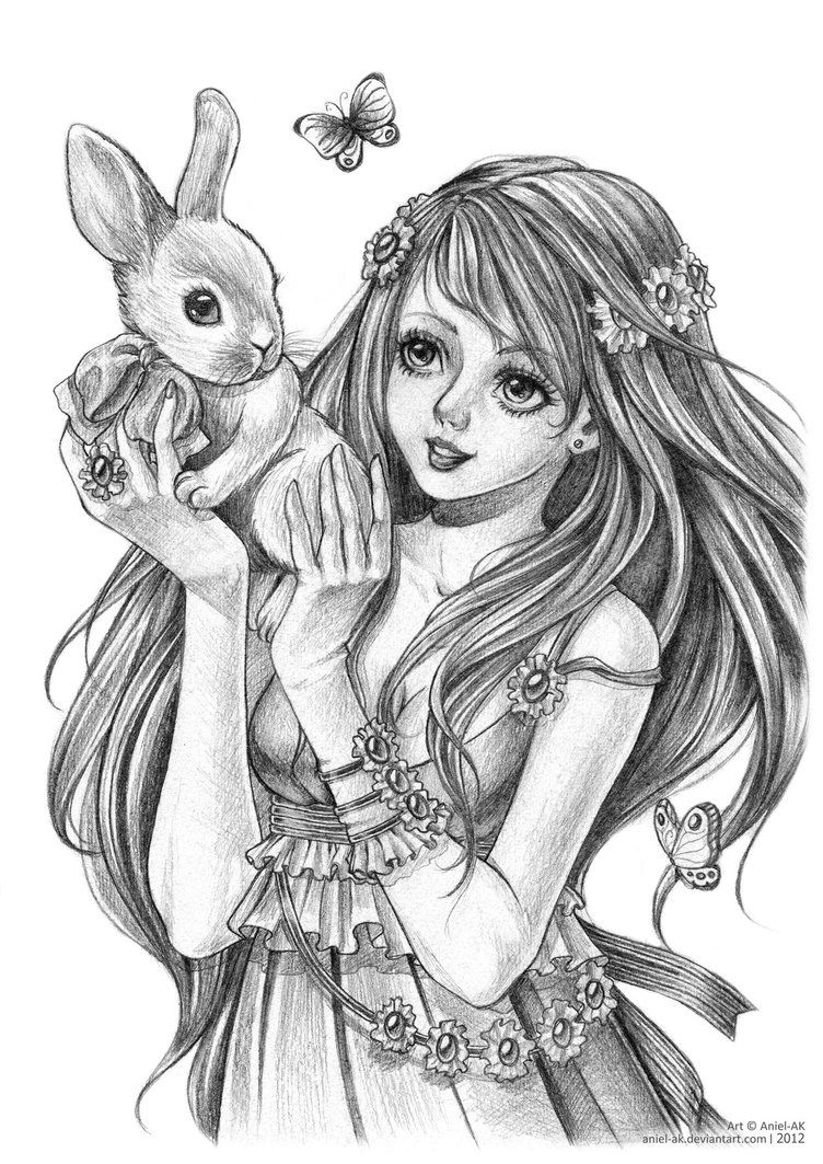princess bunny coloring pages | .:My sweet bunny:. by Aniel-AK on DeviantArt | pages ...