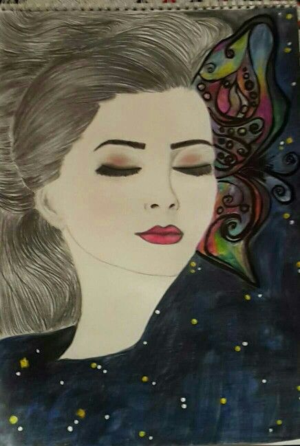 Pin by Anthony dill on my paintings | Female sketch