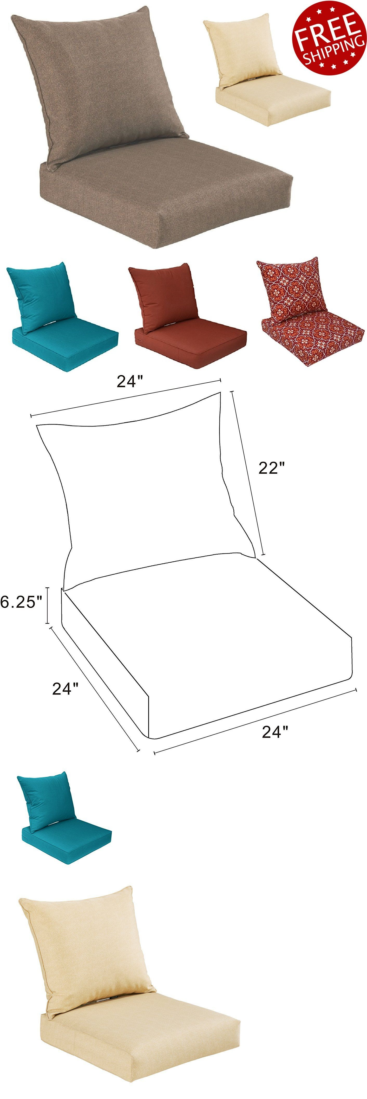 cushions and pads 79683 patio chair cushions outdoor canvas deep