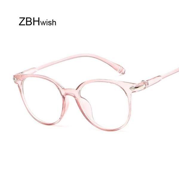 Schwarzer Brillenrahmen Cat Eye Brille Rahmen Klare Linse Frauen Marke Brillen O…