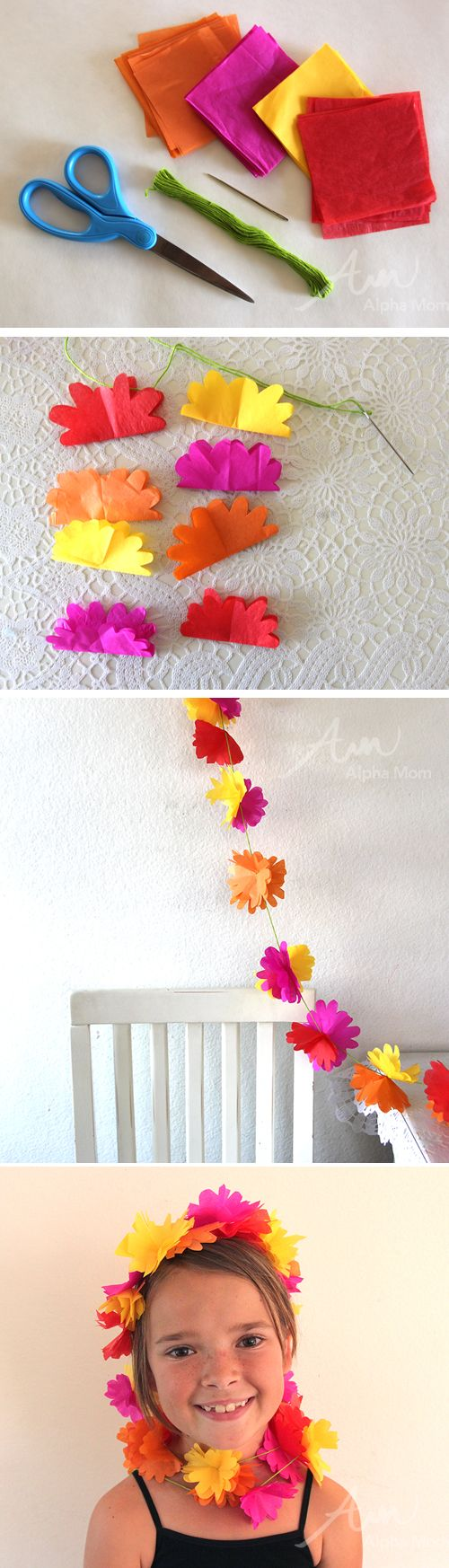 Awesome Easy Spring Flower Garland DIY