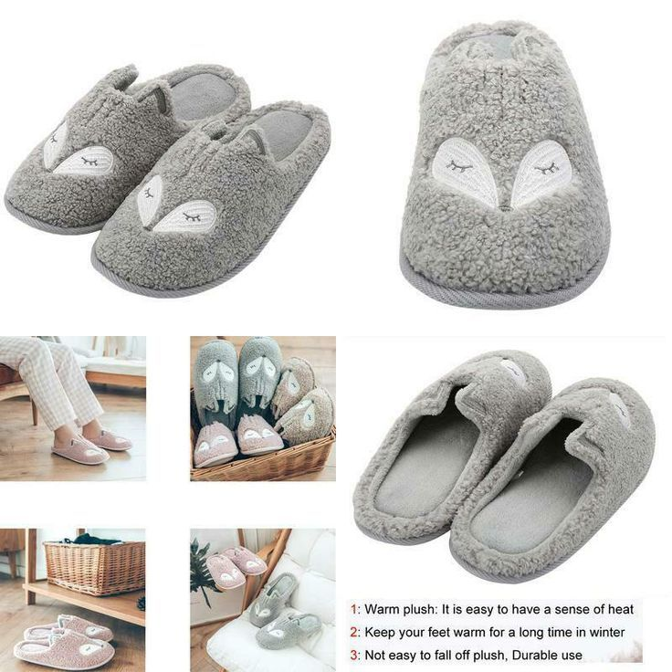 AdvertisementeBay Women39S Cute Animal Slippers Warm Memory Foam Cotton Ho  AdvertisementeBay WomenS Cute Animal Slippers Warm Memory Foam Cotton Ho
