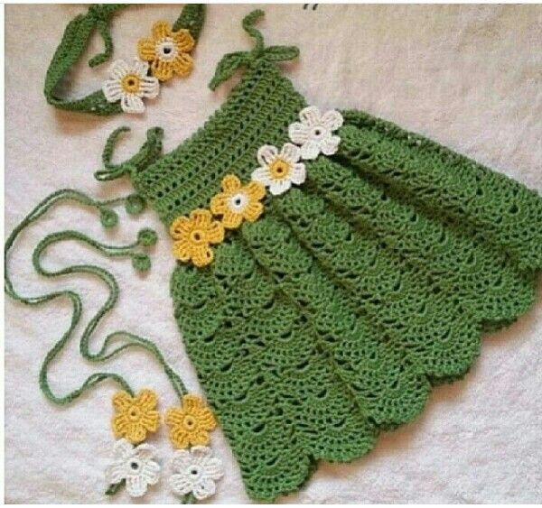 Pin de Rosi Balle en Crochet:vestidos niñas | Pinterest | Bebé ...