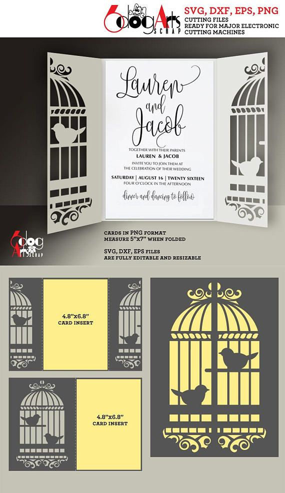 2 birdcage lace card templates digital cut svg dxf files wedding 2 birdcage lace card templates digital cut svg dxf files wedding invitation stationery laser cuttable download stopboris Image collections