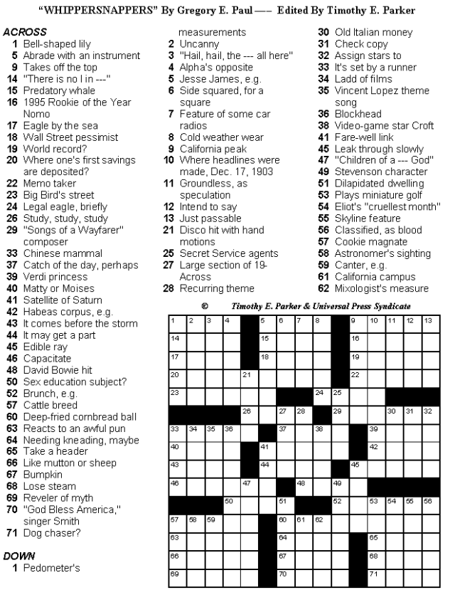 photograph relating to Washington Post Crossword Printable referred to as Pin upon crosswords