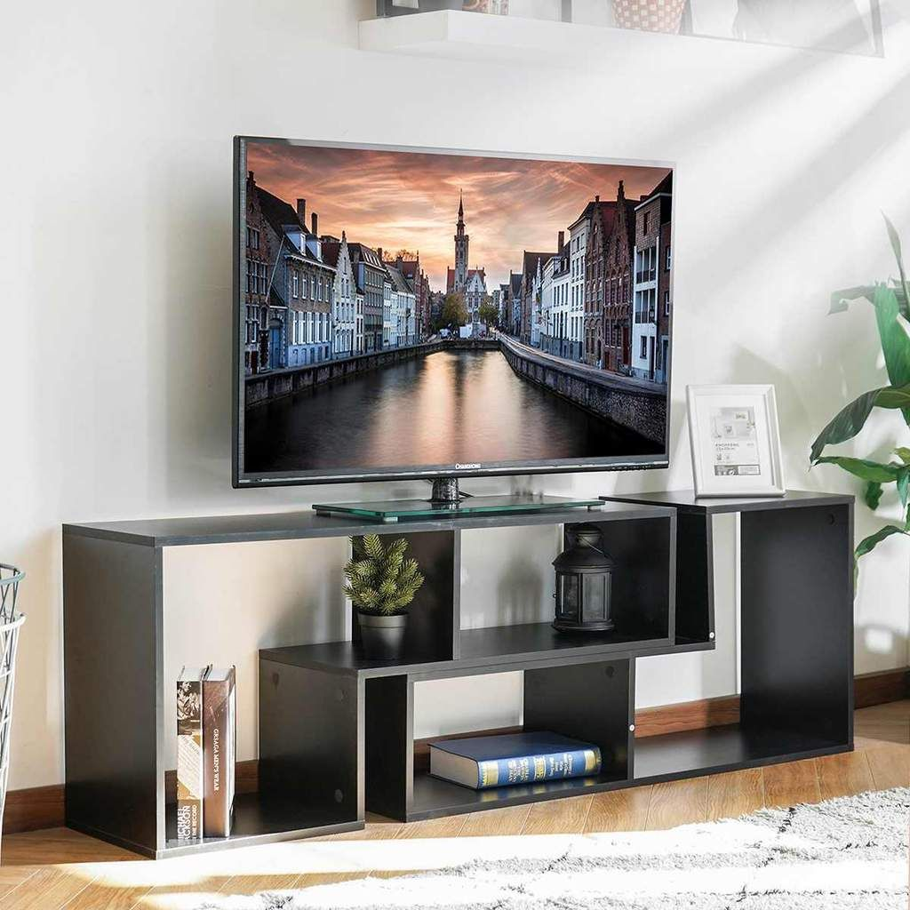 Portable Detachable Tv Stand Cabinet Console For Living Room White Woo Decorins In 2020 Tv Stand With Storage Tv Stand Bookshelf Living Room White #table #for #tv #in #living #room