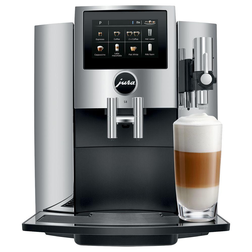 JURA S8 Bean-to-Cup Coffee Machine, Chrome