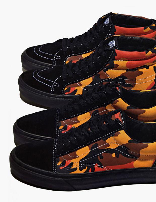 supreme vans orange camo
