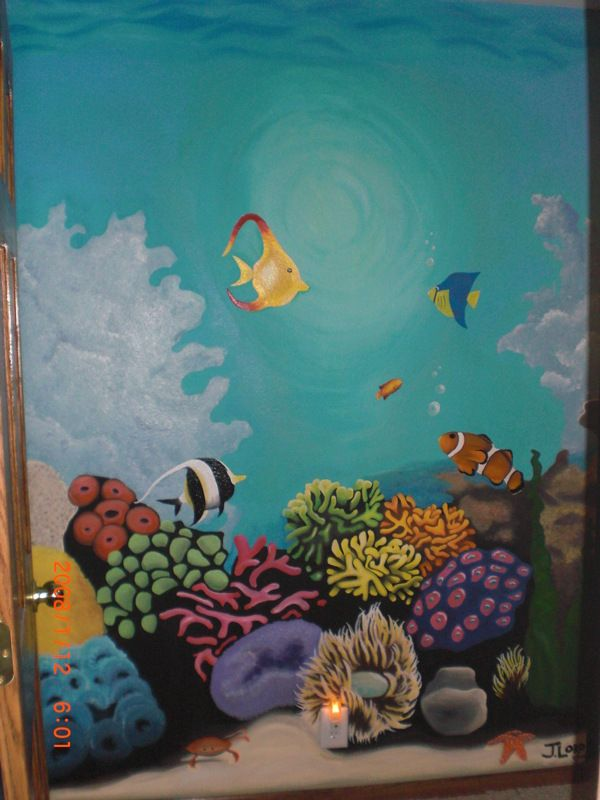 underwater sea life mural by jayme lord via behance