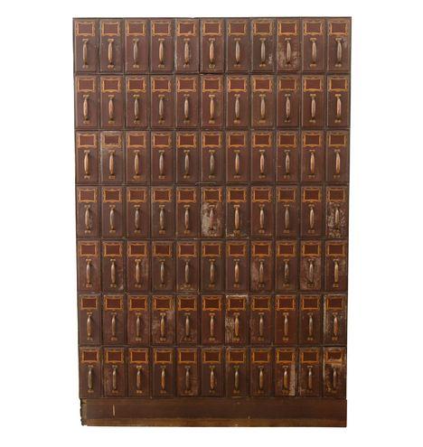 """F6152i_720 antique filing cabinet 66"""" w x 7 ft h x 15"""" deep"""