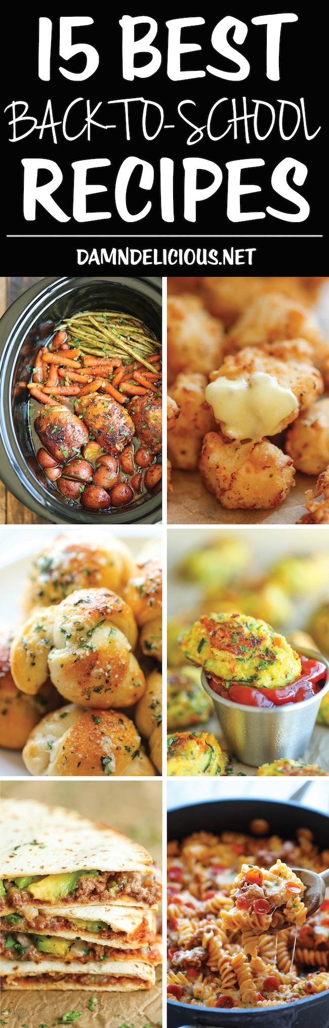 15 Best Back-To-School Recipes - Easy peasy, no-fuss breakfast, lunch, snack and fast dinner recipes to get your family through the week!