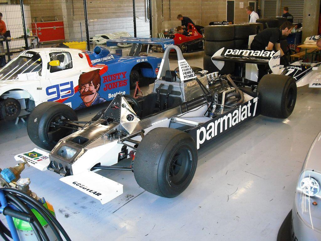 brabham bt49c without bodywork bodywork ford racing team pinterest