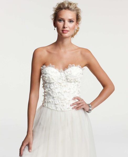 edf5b58344b Chantilly Lace Bustier - Would love to pair this with a pair of jeans.