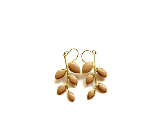 Fallen Leaves- Gold Branch Earrings/ Long Leaf Earrings/ Gold Leaves Earrings/ Nature Jewelry/ Gold Earrings. $33.00, via Etsy.
