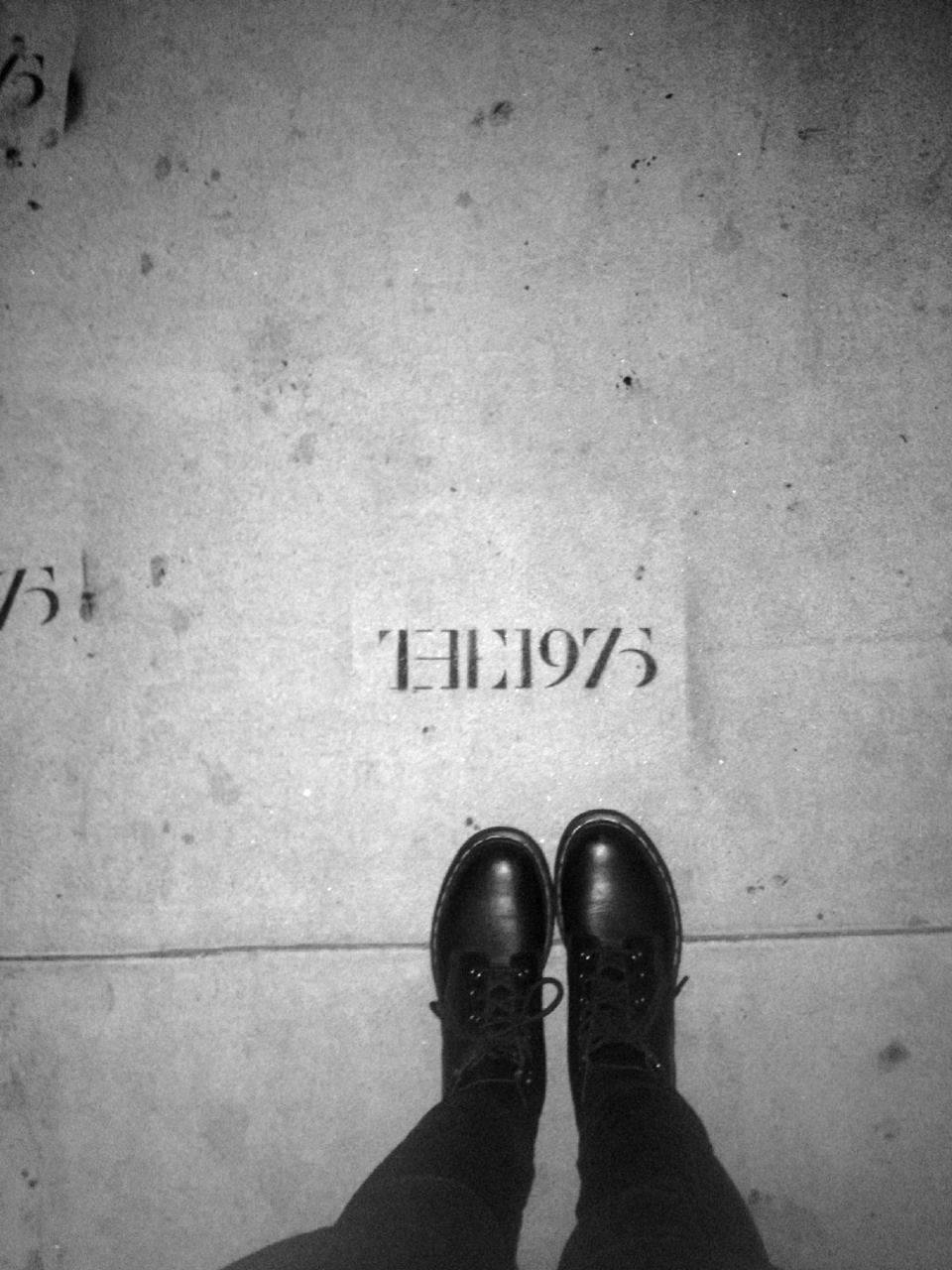 band names and songwriters' names were scattered on pavements ...