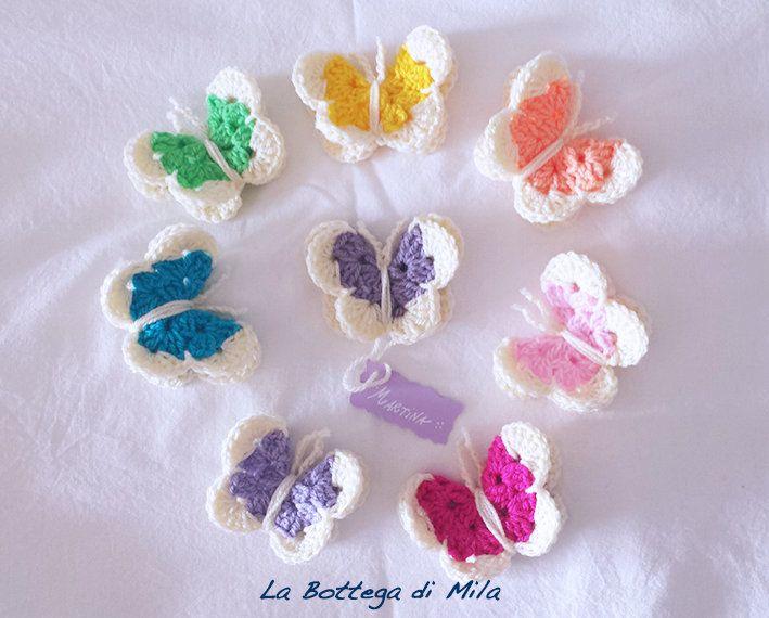 Favori Farfalla 3D uncinetto segnaposto calamita, farfalle, tema  LA09