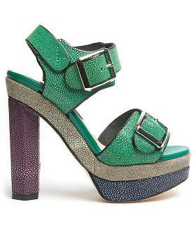 Sparkly spring sandal goodness from Chrissie Morris.
