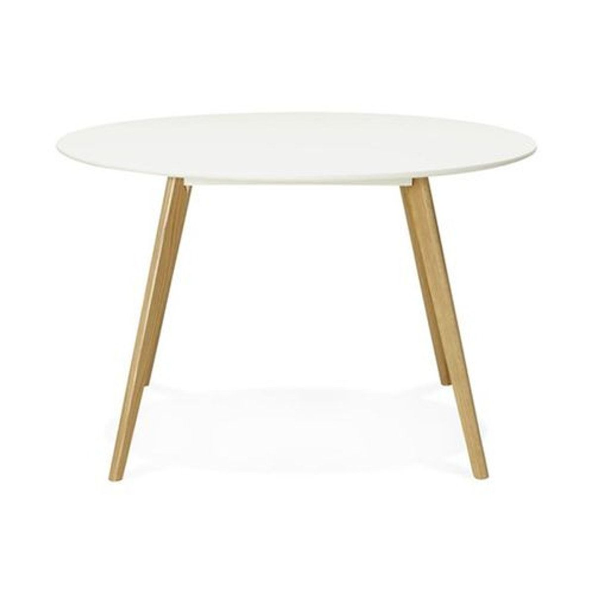 Table A Manger Ronde Blanche Pieds Bois Camsou Table A Manger